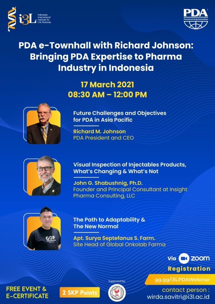 PDA E-Townhall with Richard Johnson Bringing PDA Expertise to Pharma Industry in Indonesia March 2021